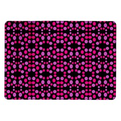 Dots Pattern Pink Samsung Galaxy Tab 10 1  P7500 Flip Case by BrightVibesDesign