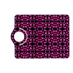 Dots Pattern Pink Kindle Fire Hd (2013) Flip 360 Case by BrightVibesDesign