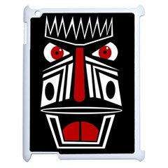African Red Mask Apple Ipad 2 Case (white) by Valentinaart