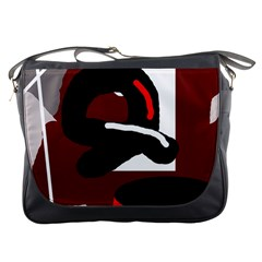 Crazy Abstraction Messenger Bags by Valentinaart