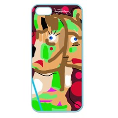 Abstract Animal Apple Seamless Iphone 5 Case (color) by Valentinaart