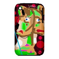 Abstract Animal Apple Iphone 3g/3gs Hardshell Case (pc+silicone) by Valentinaart
