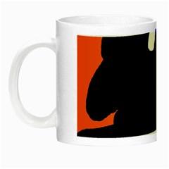Black Sheep Night Luminous Mugs by Valentinaart
