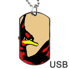 Angry Bird Dog Tag USB Flash (One Side) by Valentinaart
