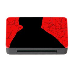 Red And Black Abstract Design Memory Card Reader With Cf by Valentinaart