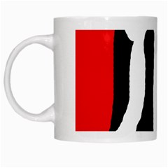 Red, Black And White White Mugs by Valentinaart