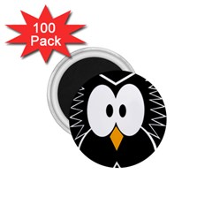Black Owl 1 75  Magnets (100 Pack)  by Valentinaart