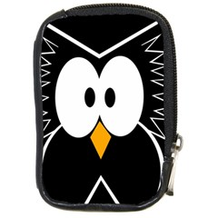 Black Owl Compact Camera Cases by Valentinaart