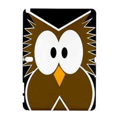 Brown simple owl Samsung Galaxy Note 10.1 (P600) Hardshell Case by Valentinaart