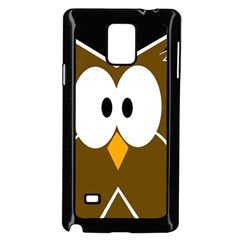 Brown Simple Owl Samsung Galaxy Note 4 Case (black)