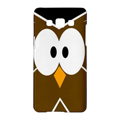 Brown Simple Owl Samsung Galaxy A5 Hardshell Case  by Valentinaart