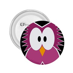 Pink owl 2.25  Buttons by Valentinaart