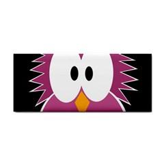 Pink Owl Hand Towel by Valentinaart