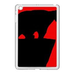 Bear Apple iPad Mini Case (White) by Valentinaart
