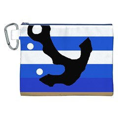 Anchor Canvas Cosmetic Bag (xxl) by Valentinaart