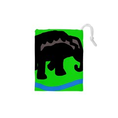 Elephand Drawstring Pouches (XS)  by Valentinaart