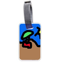 Beach Luggage Tags (one Side)  by Valentinaart