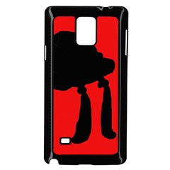 Red and black abstraction Samsung Galaxy Note 4 Case (Black) by Valentinaart