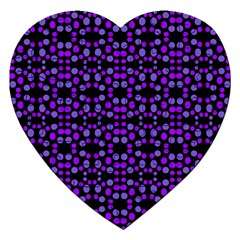Dots Pattern Purple Jigsaw Puzzle (heart) by BrightVibesDesign