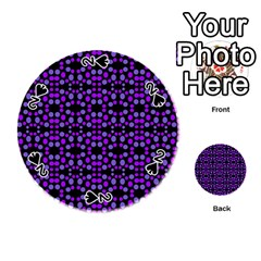Dots Pattern Purple Playing Cards 54 (round)  by BrightVibesDesign