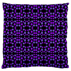 Dots Pattern Purple Standard Flano Cushion Case (two Sides) by BrightVibesDesign