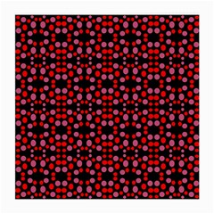 Dots Pattern Red Medium Glasses Cloth (2 Side) by BrightVibesDesign