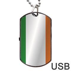 Flag Of Ireland Dog Tag USB Flash (Two Sides)  by artpics