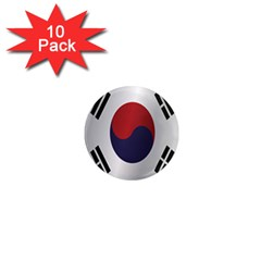 Flag Of South Korea 1  Mini Magnet (10 pack)  by artpics