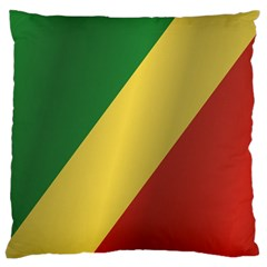 Flag Of Republic Of The Congo Standard Flano Cushion Case (One Side) by artpics