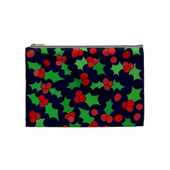 Holly Jolly Christmas Cosmetic Bag (medium)  by BubbSnugg