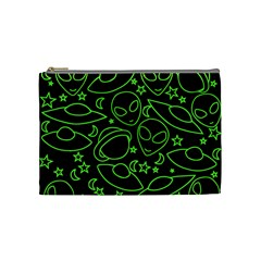 Alien Invasion  Cosmetic Bag (medium)  by BubbSnugg