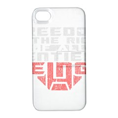 Freedom Is The Right Grunge Apple Iphone 4/4s Hardshell Case With Stand by justinwhitdesigns