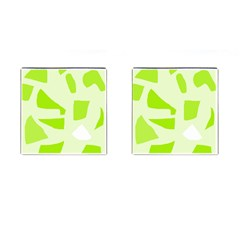 Green abstract design Cufflinks (Square) by Valentinaart