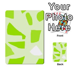 Green Abstract Design Multi Purpose Cards (rectangle)  by Valentinaart