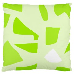 Green Abstract Design Large Cushion Case (one Side) by Valentinaart