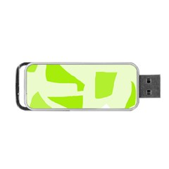 Green Abstract Design Portable Usb Flash (two Sides) by Valentinaart