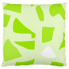 Green Abstract Design Large Flano Cushion Case (two Sides) by Valentinaart