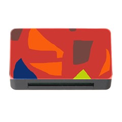 Red Abstraction Memory Card Reader With Cf by Valentinaart