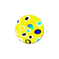 Yellow abstract pattern Golf Ball Marker by Valentinaart