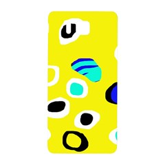 Yellow Abstract Pattern Samsung Galaxy Alpha Hardshell Back Case by Valentinaart