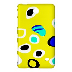Yellow Abstract Pattern Samsung Galaxy Tab 4 (8 ) Hardshell Case  by Valentinaart