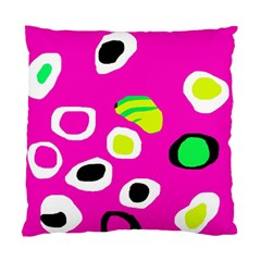 Pink Abstract Pattern Standard Cushion Case (two Sides) by Valentinaart