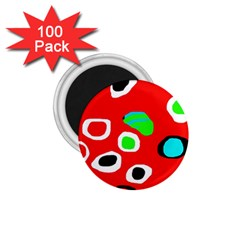 Red Abstract Pattern 1 75  Magnets (100 Pack)  by Valentinaart