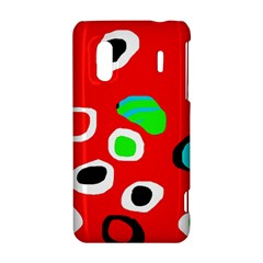 Red abstract pattern HTC Evo Design 4G/ Hero S Hardshell Case