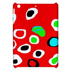 Red abstract pattern Apple iPad Mini Hardshell Case by Valentinaart