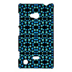 Dots Pattern Turquoise Blue Nokia Lumia 720 by BrightVibesDesign