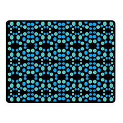 Dots Pattern Turquoise Blue Fleece Blanket (small) by BrightVibesDesign