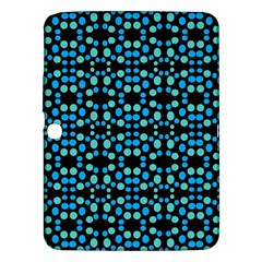 Dots Pattern Turquoise Blue Samsung Galaxy Tab 3 (10 1 ) P5200 Hardshell Case  by BrightVibesDesign