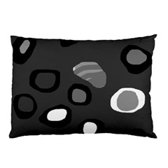 Gray Abstract Pattern Pillow Case by Valentinaart