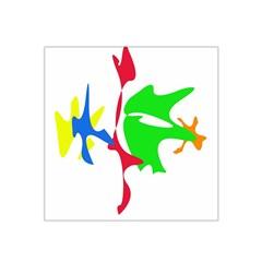 Colorful Amoeba Abstraction Satin Bandana Scarf by Valentinaart